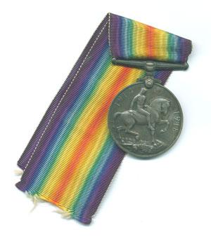 Médaille britannique que recevaient souvent à titre posthume, les soldats de la Grande guerre